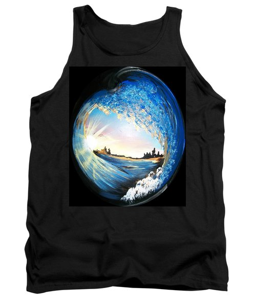 Tank Top featuring the painting Eye Of The Wave by Sharon Duguay