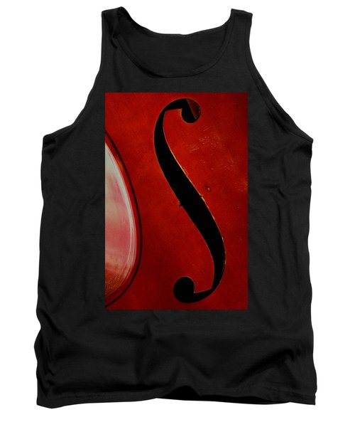 Tank Top featuring the photograph F Hole by Chris Berry
