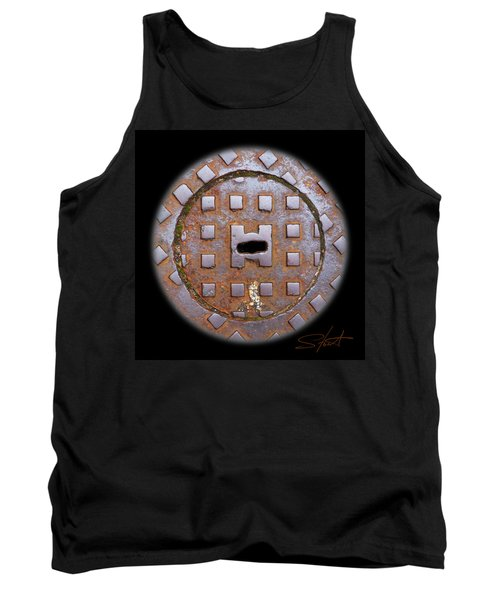 Face 2 Tank Top by Charles Stuart