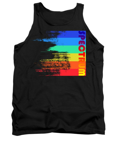 Faded Retro Pop Spectrum Colors Tank Top by Shawn Hempel