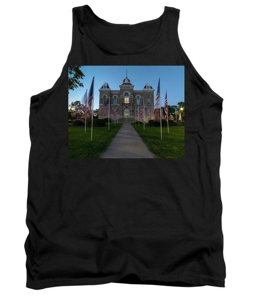 Fairbury Nebraska Avenue Of Flags - September 11 2016 Tank Top