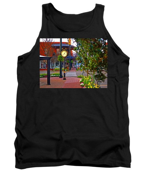 Fairhope Ave With Clock Down Section Street Tank Top