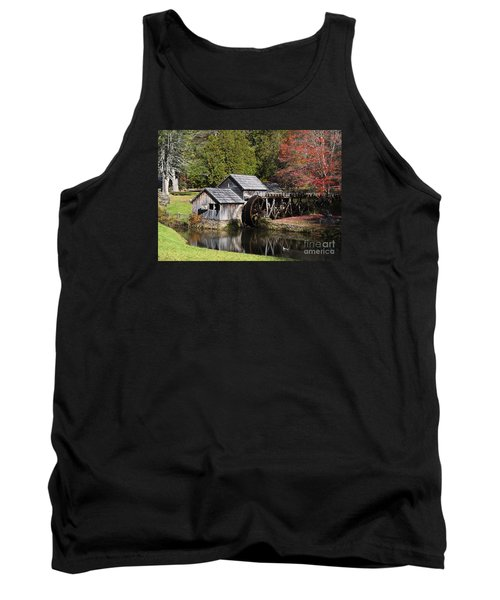 Fall Colors At Mabry Mill Blue Ridge Parkway Tank Top by Nature Scapes Fine Art
