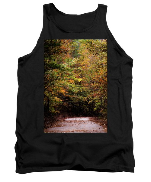 Tank Top featuring the photograph Fall Colors On The Trail by Shelby Young