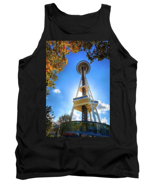 Fall Day At The Space Needle Tank Top by David Patterson