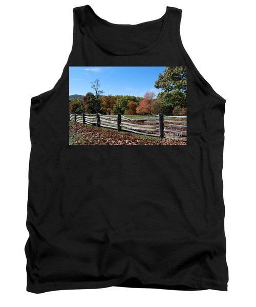 Tank Top featuring the photograph Fall Fence by Eric Liller