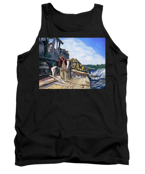 Fall Lake Train Tank Top