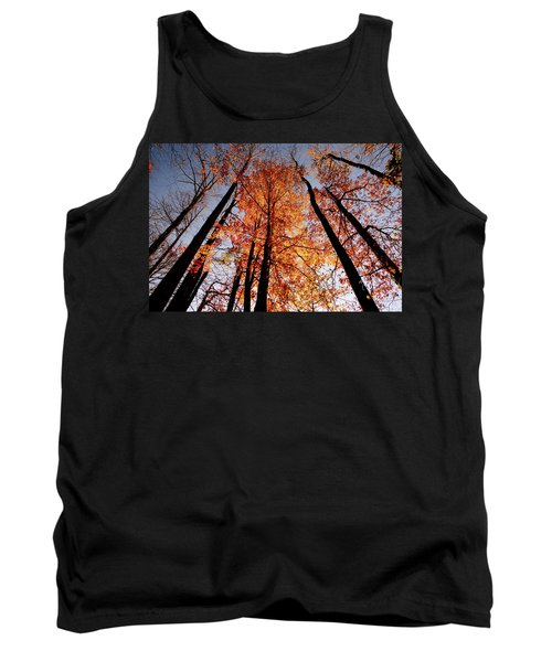 Tank Top featuring the photograph Fall Trees Sky by Meta Gatschenberger
