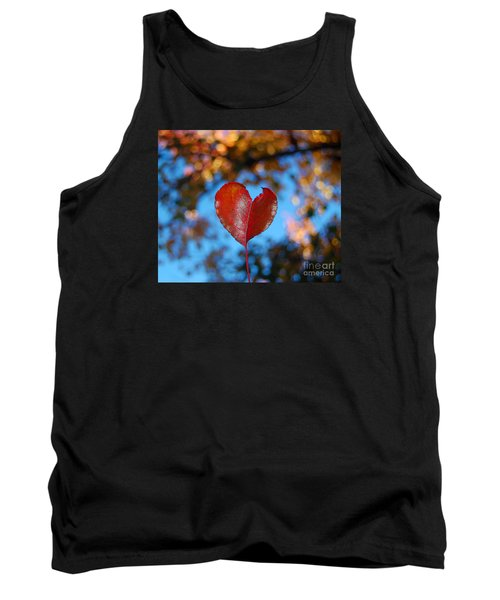 Tank Top featuring the photograph Fall's Heart by Debra Thompson