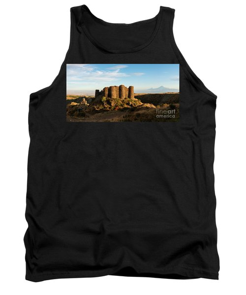 Famous Amberd Fortress With Mount Ararat At Back, Armenia Tank Top