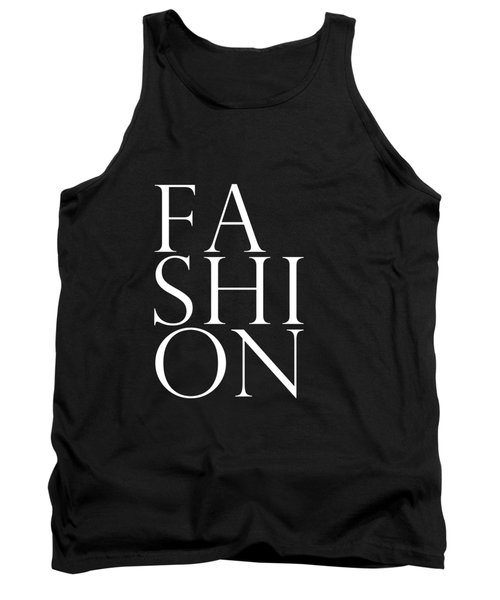 Fashion - Typography Minimalist Print - Black And White Tank Top