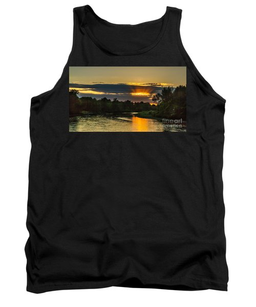 Father's Day Sunset Tank Top by Robert Bales