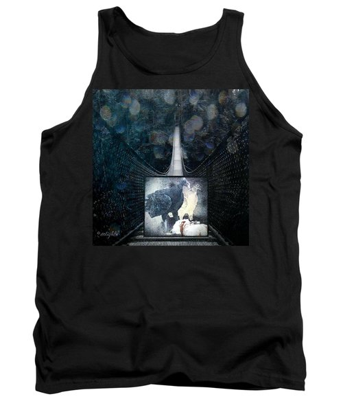 Tank Top featuring the digital art Fear Of Stairs by Delight Worthyn