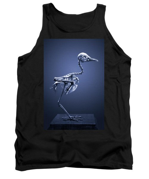 Tank Top featuring the photograph Featherless In Blue by Joseph Westrupp