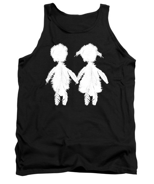 Featherman And Feathergirl From Playing The Angel White Tank Top