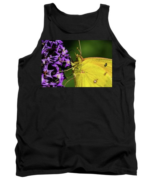 Tank Top featuring the photograph Feeding Butterfly by Jay Stockhaus