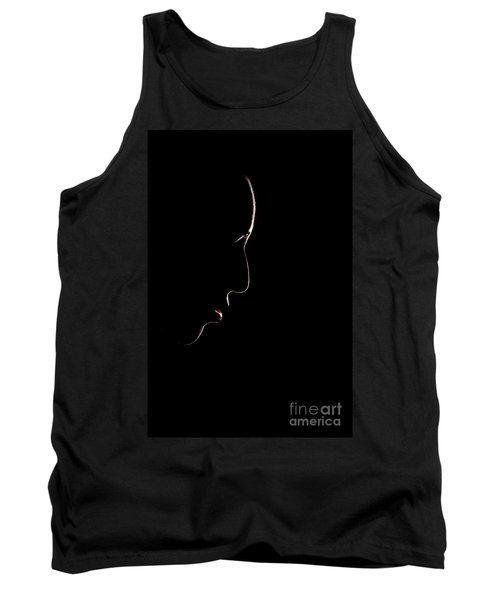 Female Outline Tank Top