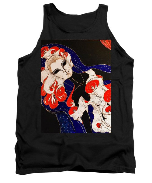Tank Top featuring the painting Feminine Mystique by Rae Chichilnitsky
