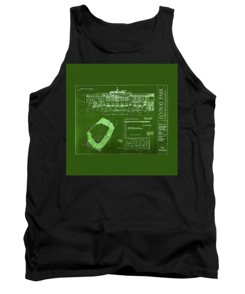 Fenway Park Blueprints Home Of Baseball Team Boston Red Sox Tank Top