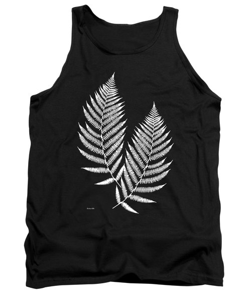 Fern Pattern Black And White Tank Top