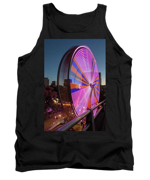 Ferris Wheel At Fun Fair In Downtown Portland Oregon Tank Top