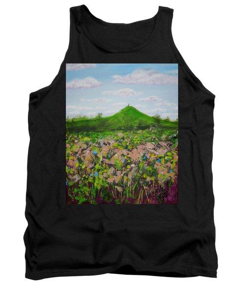 Fields To Glastonbury Tor Tank Top