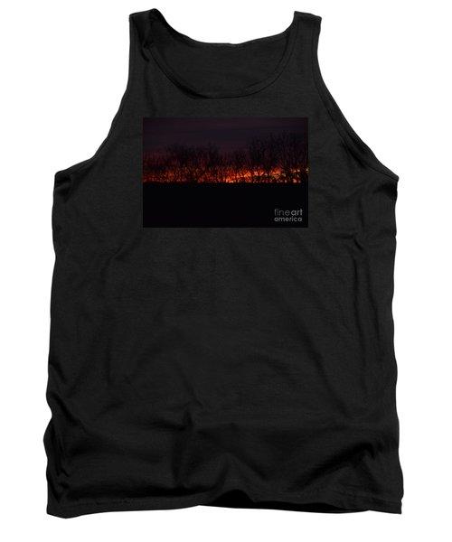 Tank Top featuring the photograph Fiery Kansas Sky by Mark McReynolds