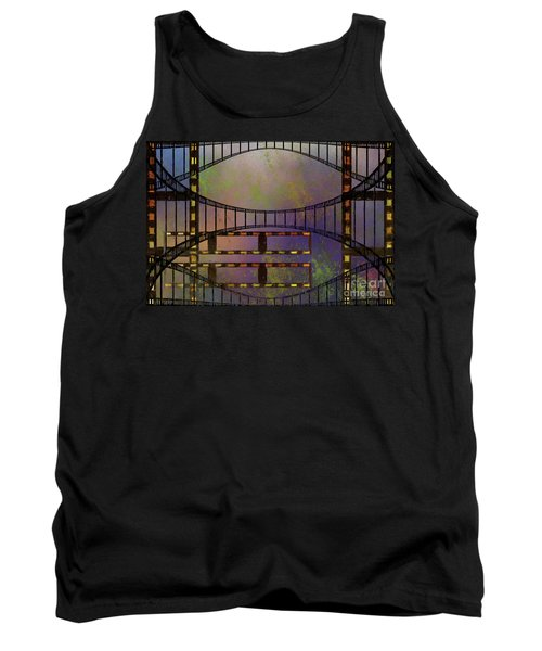 Tank Top featuring the mixed media Film Is Dead by Jim  Hatch