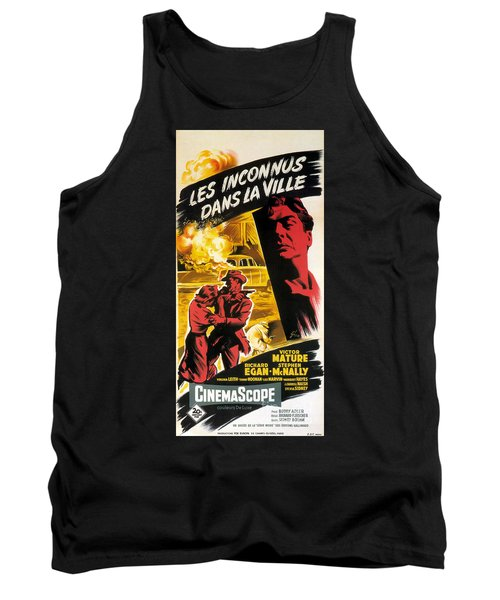 Film Noir Poster   Violent Saturday Tank Top by R Muirhead Art