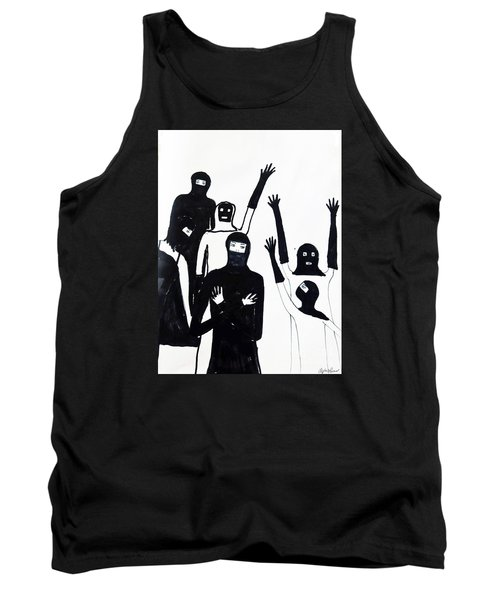 Tank Top featuring the drawing Final Call by Lyric Lucas