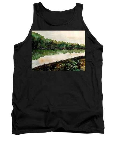 Finding The Place To Cross Tank Top by Lisa Aerts