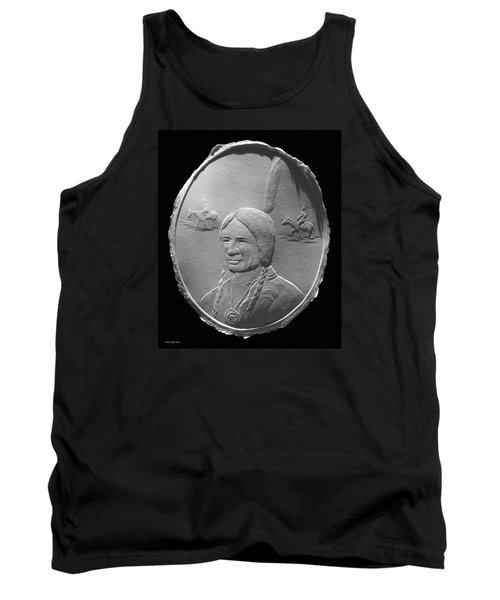 Tank Top featuring the relief Fingernail Relief Drawing Of American Indian  by Suhas Tavkar