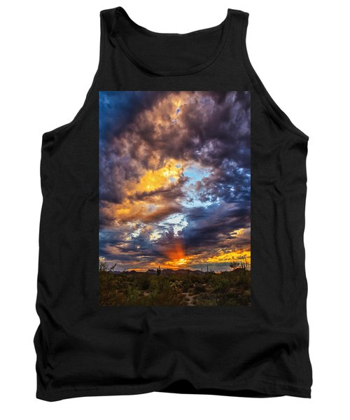 Finger Painted Sunset Tank Top by Rick Furmanek