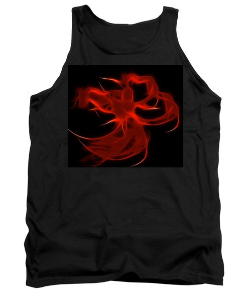 Tank Top featuring the digital art Fire Dancer by Holly Ethan