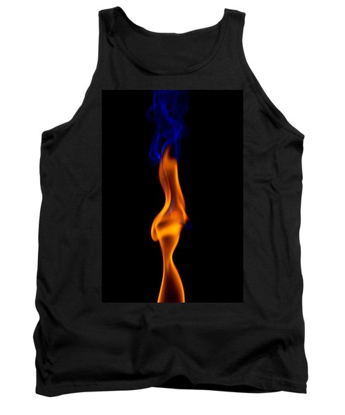 Tank Top featuring the photograph Fire Lady by Gert Lavsen