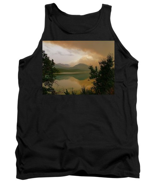 Fire Over St Mary Lake Tank Top