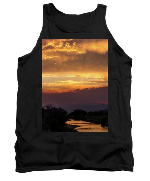 Fire Sky At Sunset Tank Top