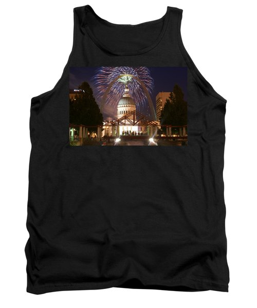 Fireworks At The Arch 1 Tank Top by Marty Koch