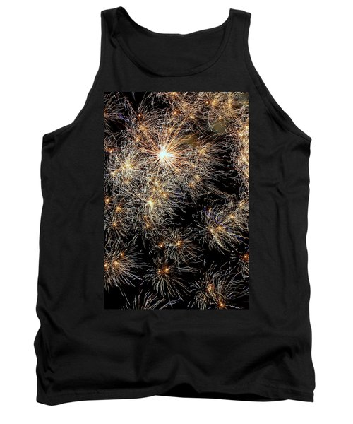 Tank Top featuring the photograph Fireworks by Suzanne Stout