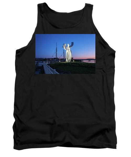 First Light At The Waterfront Tank Top