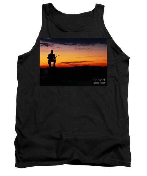 First Pennsylvania Cavalry Sunrise Gettysburg Tank Top by Randy Steele