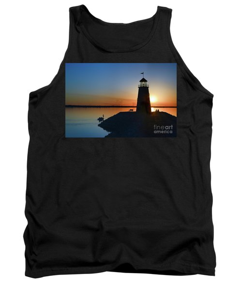 Fishing At The Lighthouse Tank Top