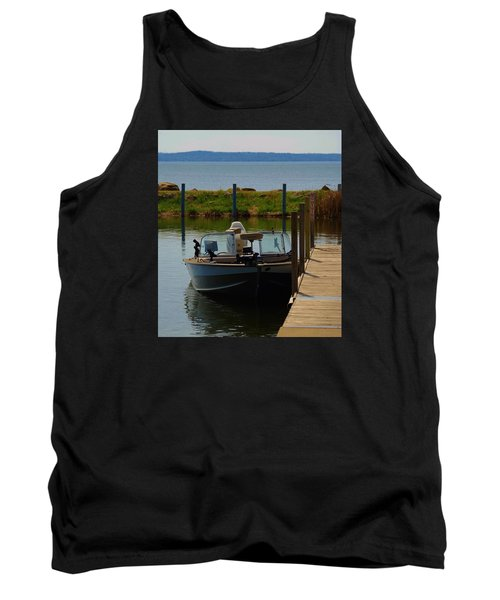 Tank Top featuring the photograph Fishing Boat by Ramona Whiteaker