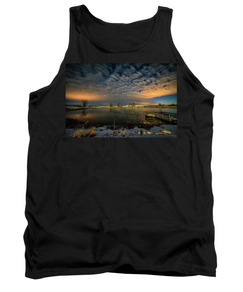 Fishing Hole At Night Tank Top by Fiskr Larsen
