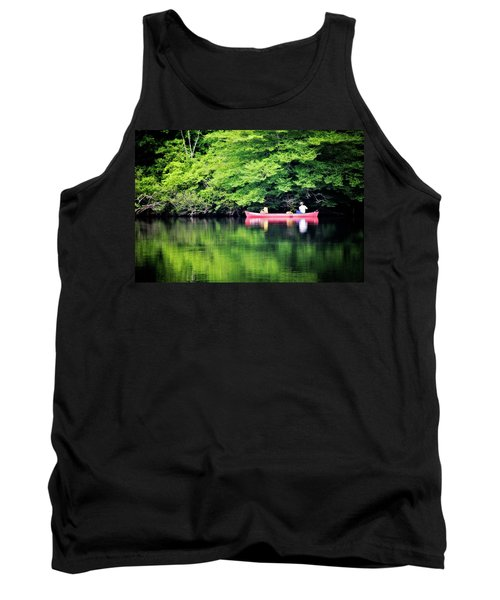 Fishing On Shady Tank Top by Lana Trussell