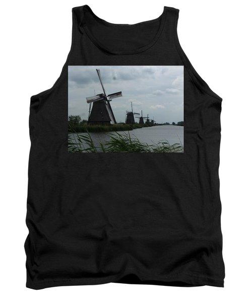 Five Windmills In Kinderdijk Tank Top