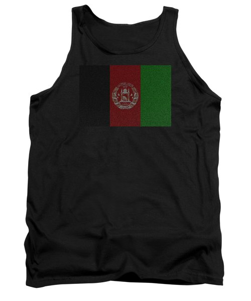 Tank Top featuring the digital art Flag Of Afghanistan by Jeff Iverson