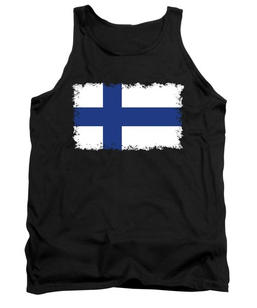 Flag Of Finland Tank Top by Bruce Stanfield