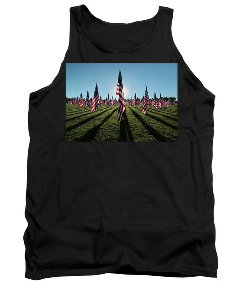 Flags Of Valor - 2016 Tank Top by Rau Imaging