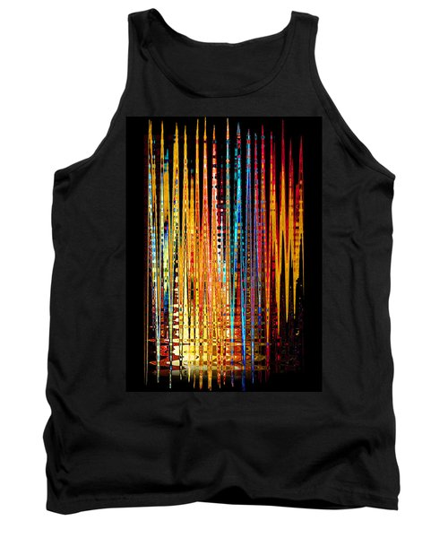 Tank Top featuring the digital art Flame Lines by Francesa Miller